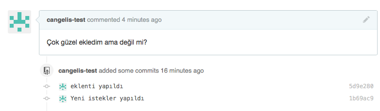 GitHub PR update